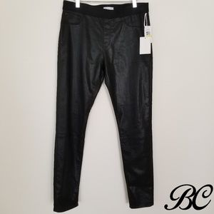 1. State Leggings Jegging Black Shiny Sexy Stretch